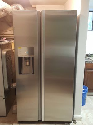 Samsung stainless steel side by side plus double door for refrigerator