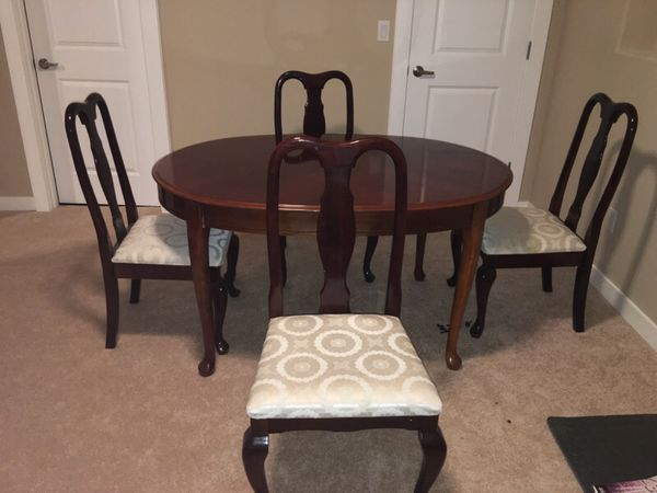 solid wood dining table and four chairs furniture in covington wa