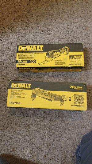 Ángle drill y multi tool dewalt nuevos no baterías no cargador