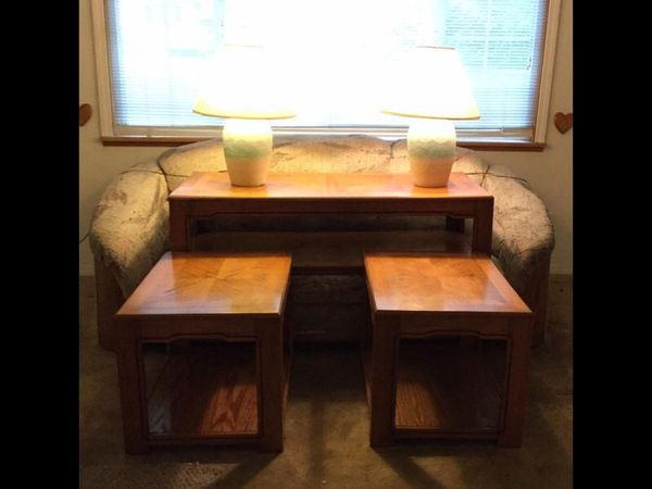 3 piece coffee table and end tables furniture in auburn for Furniture auburn wa