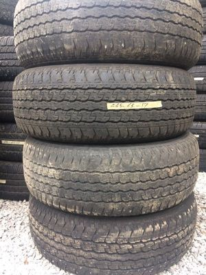 Set (4) Used Tires 265-65-17 Free Mount & Balance