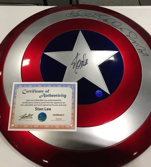 Marvel Captain America Shield Signed by Stan Lee