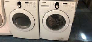 """27""""Samsung stackable washer gas dryer great works with 90 days warranty"""