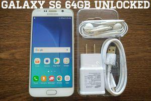 Galaxy S6 64GB UNLOCKED w/ Samsung Accessories
