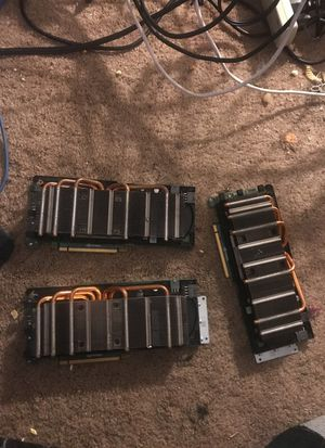 3 Nvida Tesla gpu coprocessors
