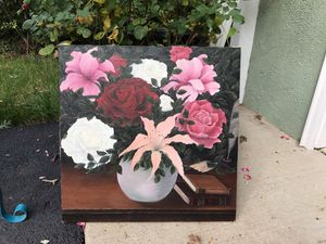 Floral oil painting original art