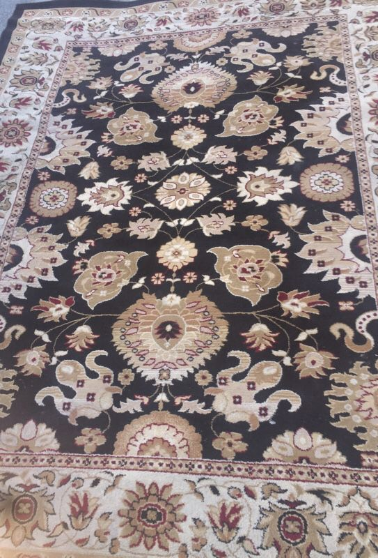 Black Retro Style Oriental Rug W Gold Brown General In Burbank Ca