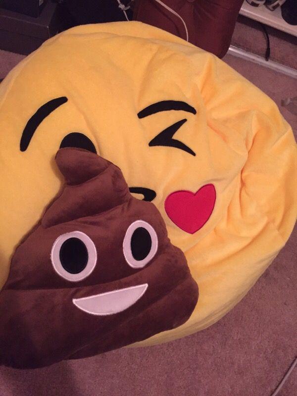 Emoji Bean Bag Chair And Poop Pillow