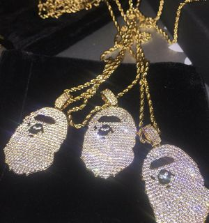 Brand New Gold Bape Rope Necklace