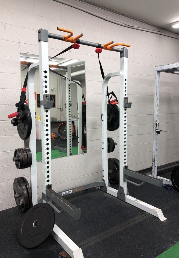 Squat rack **only squat rack nothing else in picture is included