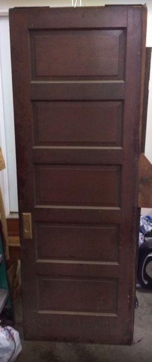 Vintage 5 Panel Solid Wood Door