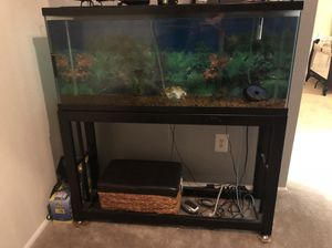 75 gallon fish tank with the stand