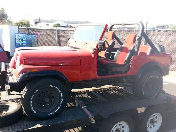 CJ7 1985 jeep runs! (Cars & Trucks) in Phoenix, AZ - OfferUp