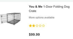 Folding Dog Crate (like new)