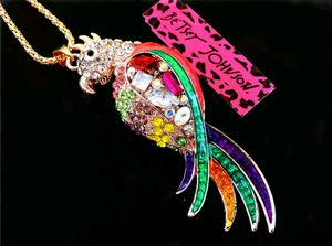 Betsey Johnson Lovely Parrot Pendants chain Sweater chain necklace