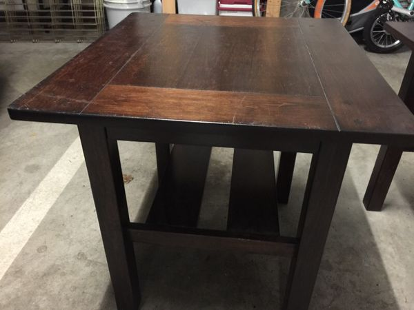 Wooden end tables furniture in seattle wa offerup for Furniture movers seattle