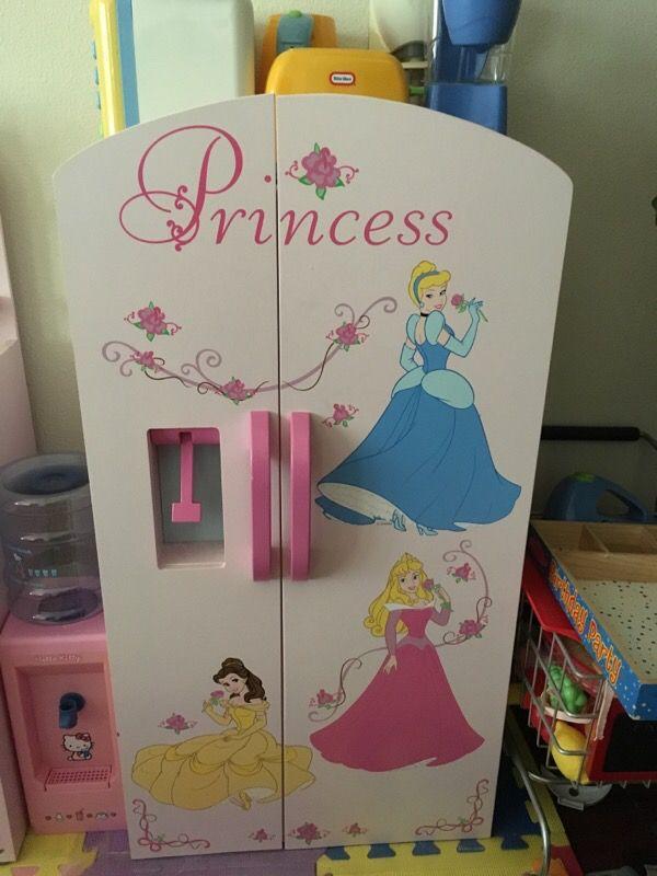 Disney Princess Make Belief Kitchen Fridge play set with all ...