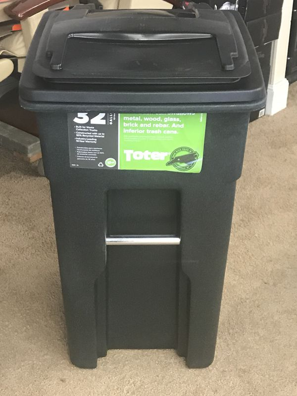 32 Gallon Garbage Can Small Size Of Container Trash Plastic Recycling With Wheels 4 Wheel