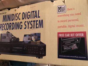 Minidisk Digital Recording System