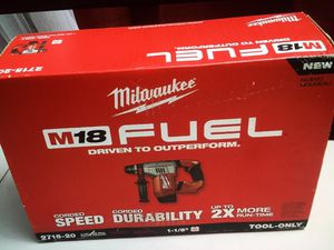 "MIlWAUKEE New Cordless 1-1/I j8"" SDS Plus Rotary Hammer 2715-20 M18-FUEL Tool New Never Used Before"