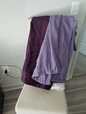Crushed velvet black out curtains. Deep violet.