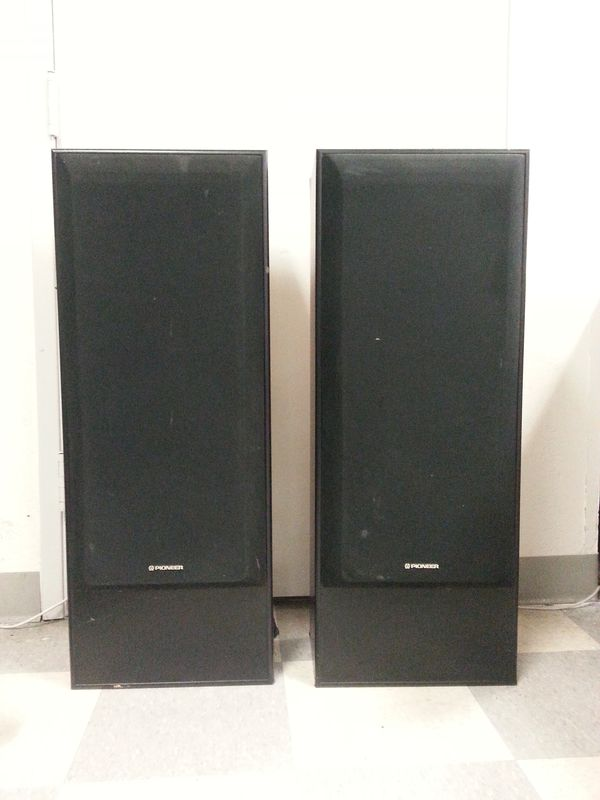 pioneer floor speakers cs. pair of pioneer cs-r390-k 150w floor speakers | cl272 cs