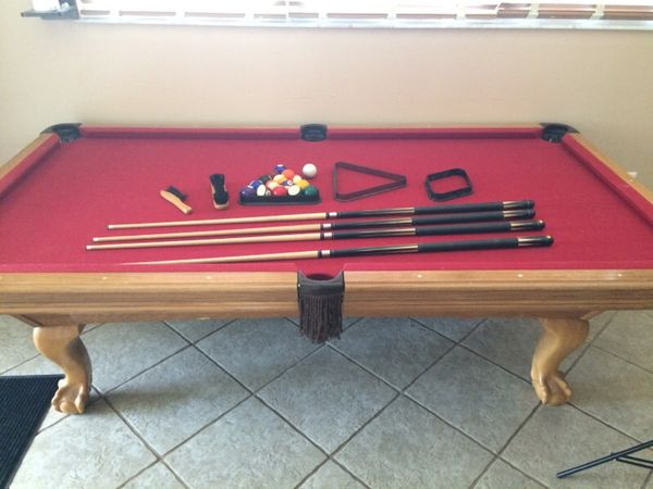 8ft / 3 pc slate leisure bay pool table (general) in tampa, fl