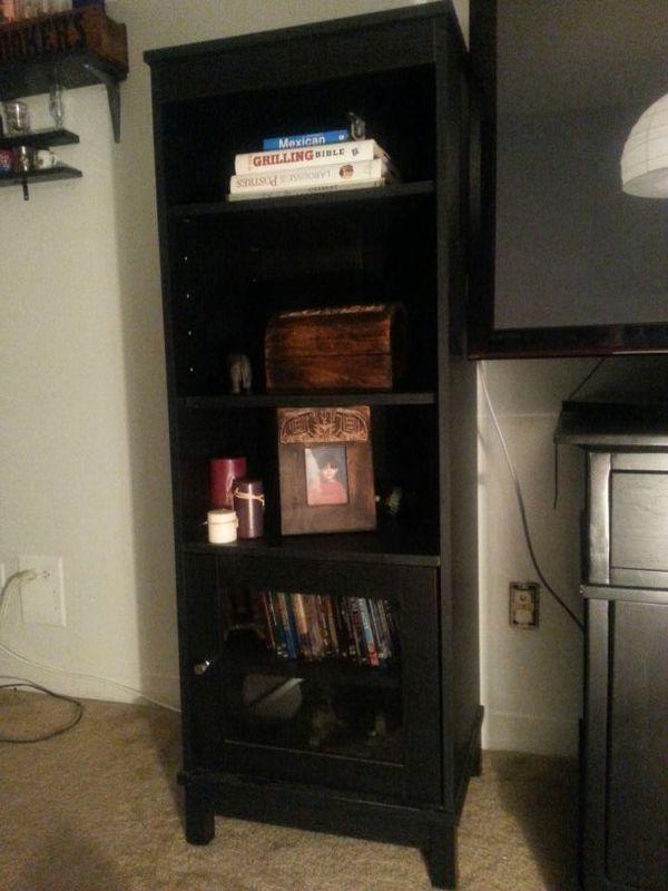 Black Book Case Media Storage Furniture In Carol Stream Il