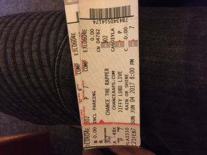 Chance The Rapper tickets June 4th Jiffy lube live-Includes parking