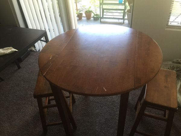 Dining Table With 2 Chairs Bar Stool