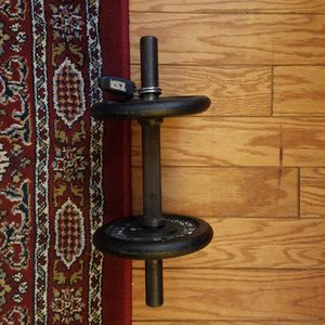 2x 5lb Weights with bar and clips