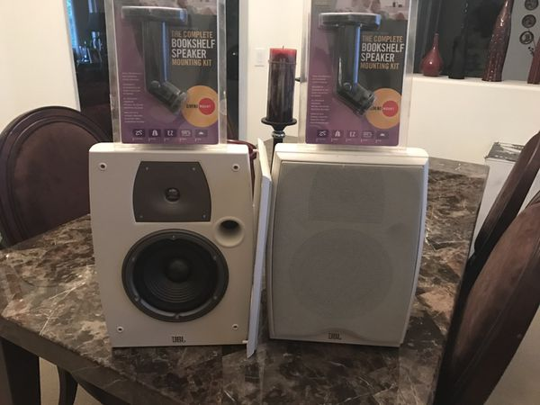 jbl used speakers. jbl north ridge n26aw ii bookshelf speakers with wall mounts never used e
