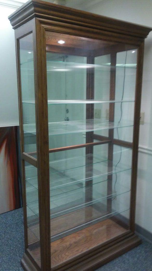 Curio Cabinet Lighted Philip Reinisch 58171 (Furniture) in ...