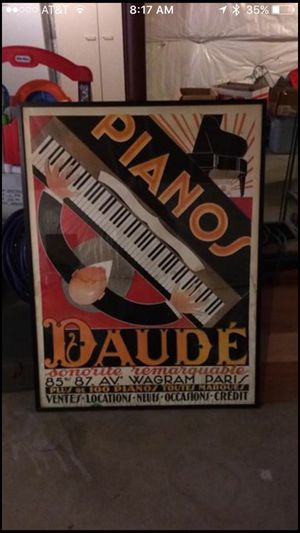 Large Piano Art Framed Picture