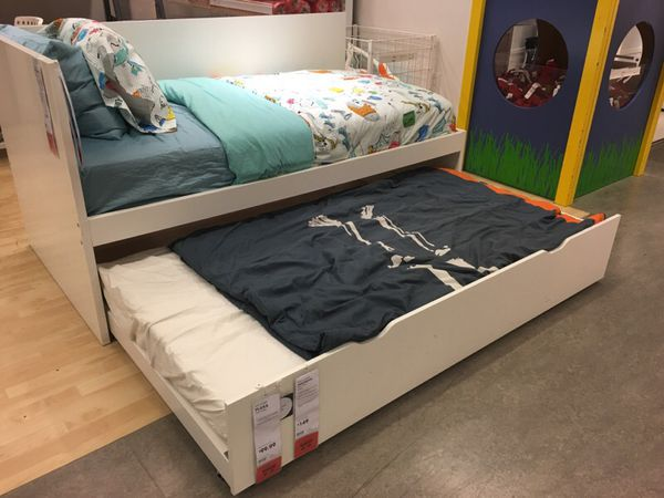 ikea flaxa twin bed pull out bed daybed guest bed furniture in san jose ca. Black Bedroom Furniture Sets. Home Design Ideas