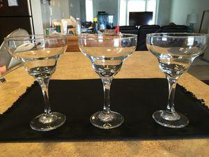 3 Margarita Glasses