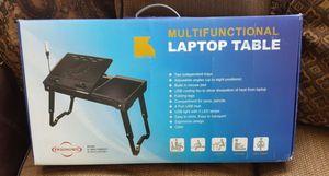 Multifunctional laptop table (computer desktop tablet notebook Samsung Apple Mac iPhone Android TV Microsoft)