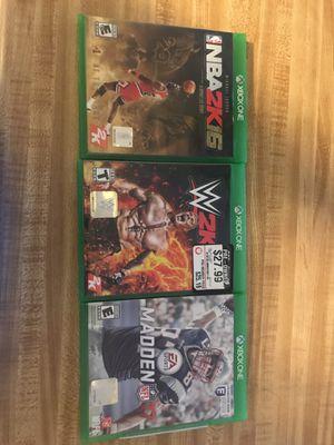 NBA 2k16 WWE2k17 Madden17