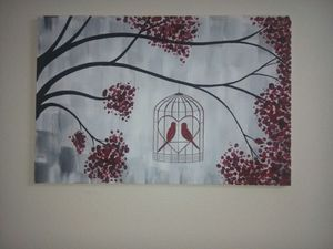 Hand painted canvas wall art