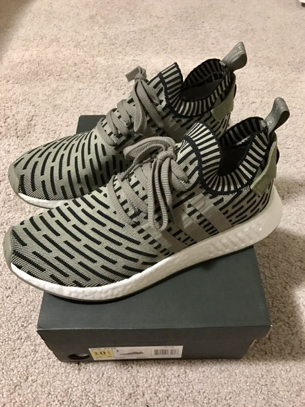 adidas nmd r2 olive, Men's Fashion, Footwear on Carousell