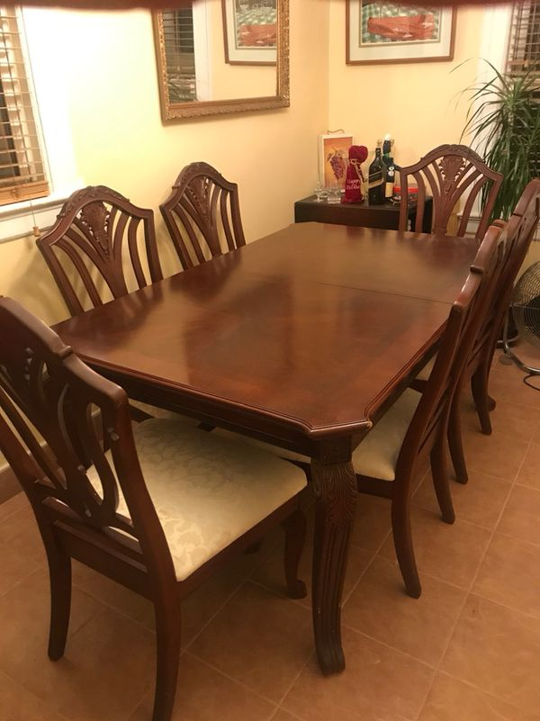 Solid Wood Dining Room Set Furniture In Queens NY