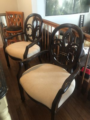 2 Antique (late 1800's) Hand Carved (Balloon Back) Parlor Chairs