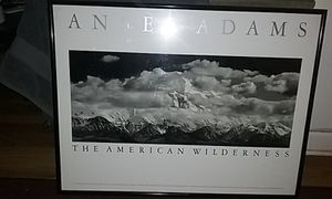 Hansel Adams 1990 black frame reproduction print