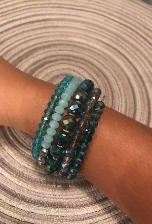 Blue wrap bracelet