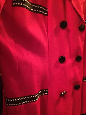 Lipstick Red Pant Suit Size 14