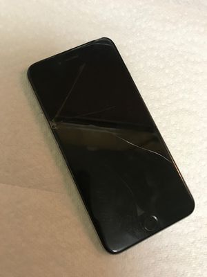 iPhone 6 Plus 128GB Space gray Unlocked Clean IMEI Cracked LCD SCREEN