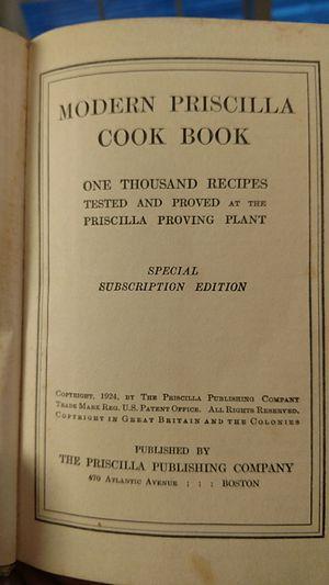 1924 modern Priscilla cookbook