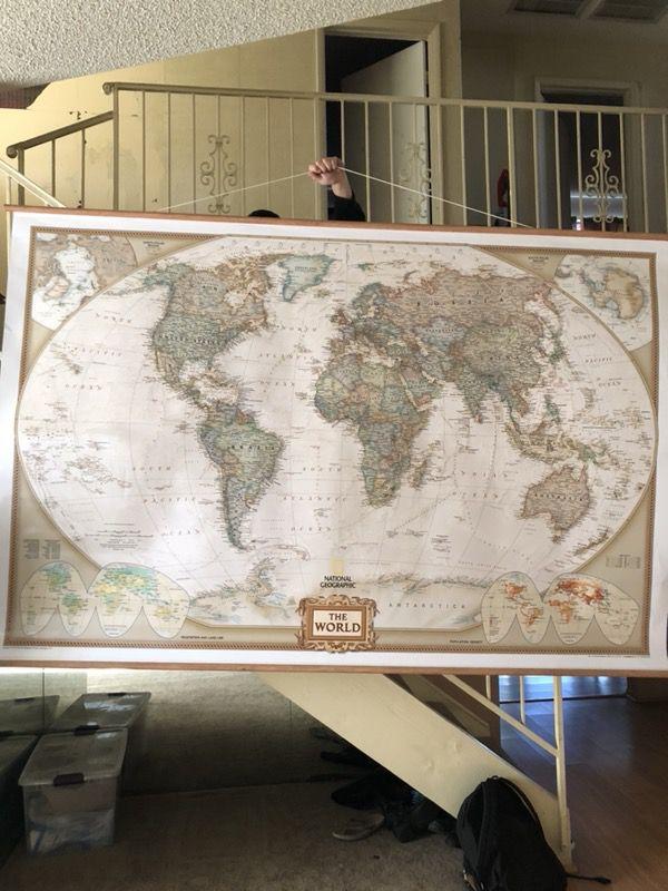 National geographic world map books magazines in las vegas nv national geographic world map gumiabroncs Choice Image