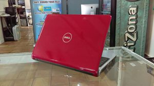 """14.1"""" Red Dell Inspiron 1470 Laptop. Win 7. 320 GB HDD. 4 GB RAM. Intel core 2 duo. HDMI. DVD Burner. SD Card reader."""