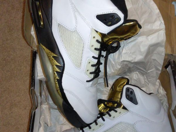 Jordan 5 gold Olympic size 12